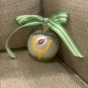 Coton Colors Football Ornament 8.5""